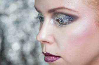 The Snow Queen-like makeup.